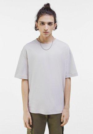 T-shirt med print - light grey
