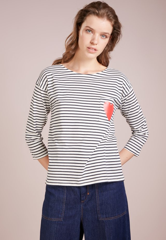 HEART POCKET TEE - Longsleeve - cream