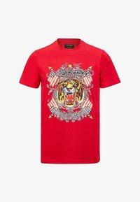 Ed Hardy - TIGER LOS T-SHIRT - Print T-shirt - red - 5