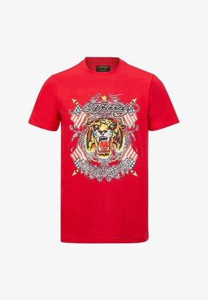 TIGER LOS T-SHIRT - Print T-shirt - red