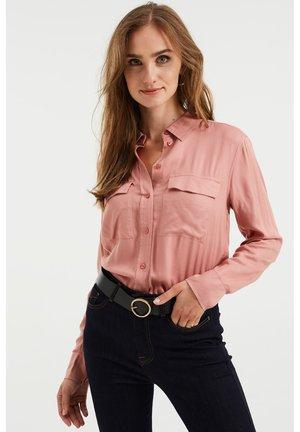 MET BORSTZAKKEN - Button-down blouse - light pink