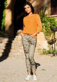Alba Moda - Trousers - beige,pfirsich,schwarz - 2