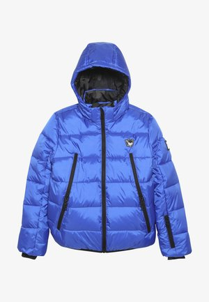 BASIC SHINY BOYS SKI JACKET - Snowboardová bunda - yves blue