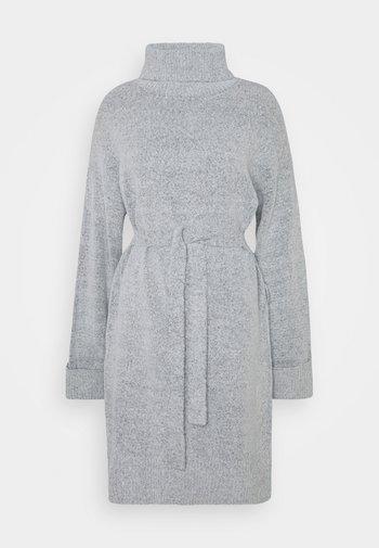 VIROLFIE TIE BELT DRESS - Jumper dress - light grey melange