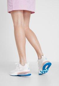 Nike Sportswear - AIR MAX 270 REACT - Trainers - summit white/ghost aqua/phantom/coral stardust/imperial blue/light bone - 0
