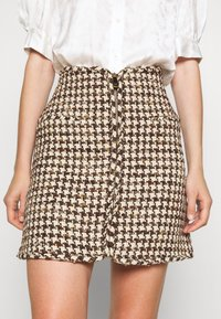 sandro - Mini skirt - marron beige - 3