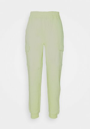 POCKET DETAIL - Tracksuit bottoms - lime