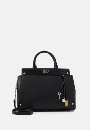 THELMA SATCHEL - Sac à main - black/gold