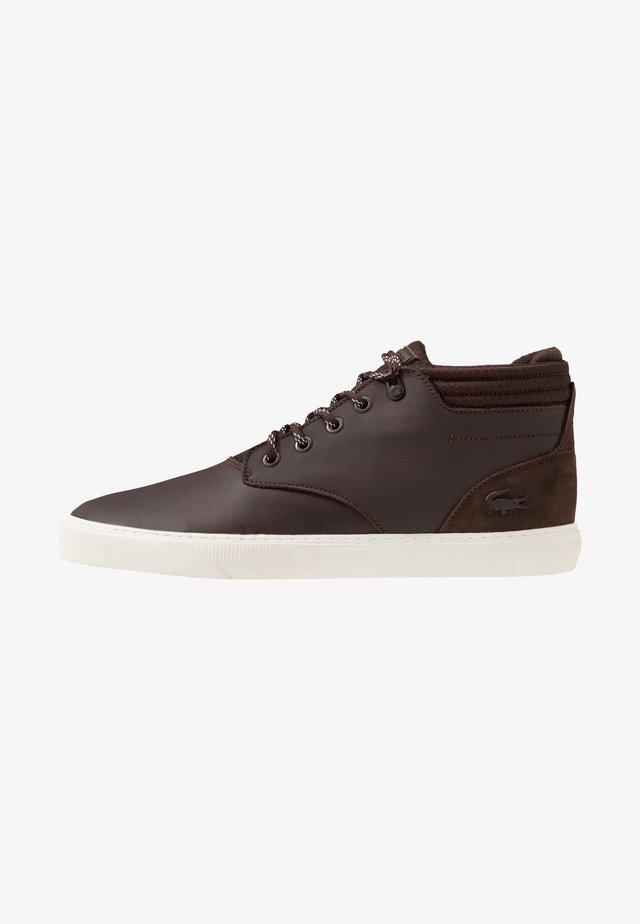 ESPARRE CHUKKA - Sneakersy wysokie - brown/offwhite