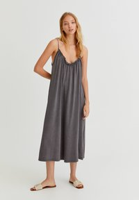 PULL&BEAR - Denní šaty - dark grey - 0