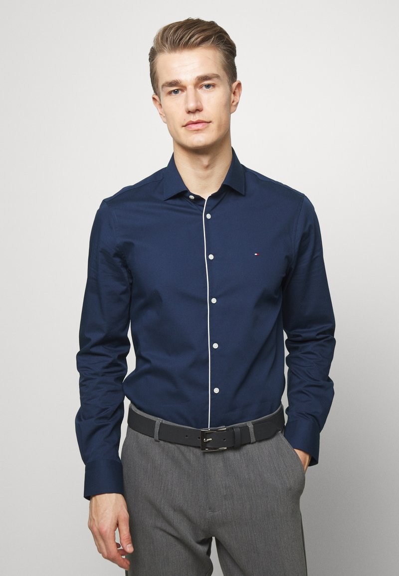 Tommy Hilfiger Tailored - PIPING CLASSIC SLIM  - Formal shirt - blue