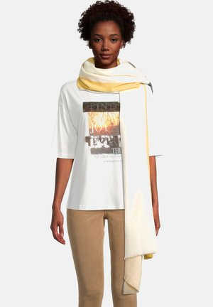 Sjaal - yellow/cream