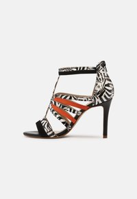 San Marina - NITOBA - High heeled sandals - noir blanc - 1