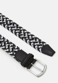 Anderson's - STRECH BELT UNISEX - Braided belt - grey - 2
