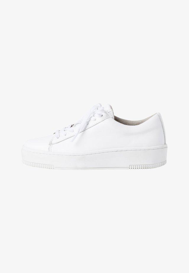 Sneakers laag - white lea. uni