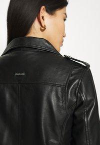 Deadwood - RIVER ORIGINAL - Leather jacket - black - 5