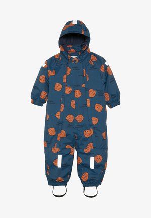SHELLS SNOW ONE PIECE - Snowsuit - light navy/brown