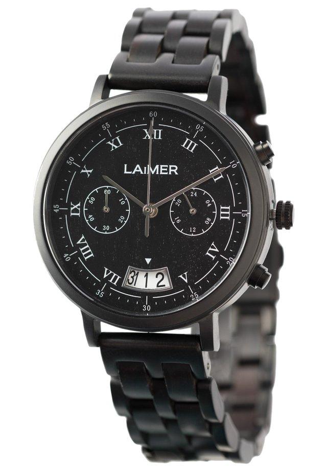 LAIMER QUARZ HOLZUHR - ANALOGE ARMBANDUHR LUCIO - Cronografo - black