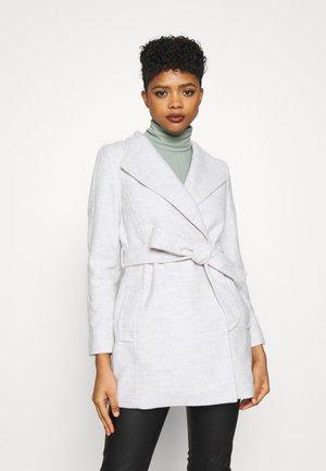 VIVIENNE SHORT WRAP - Short coat - grey marle
