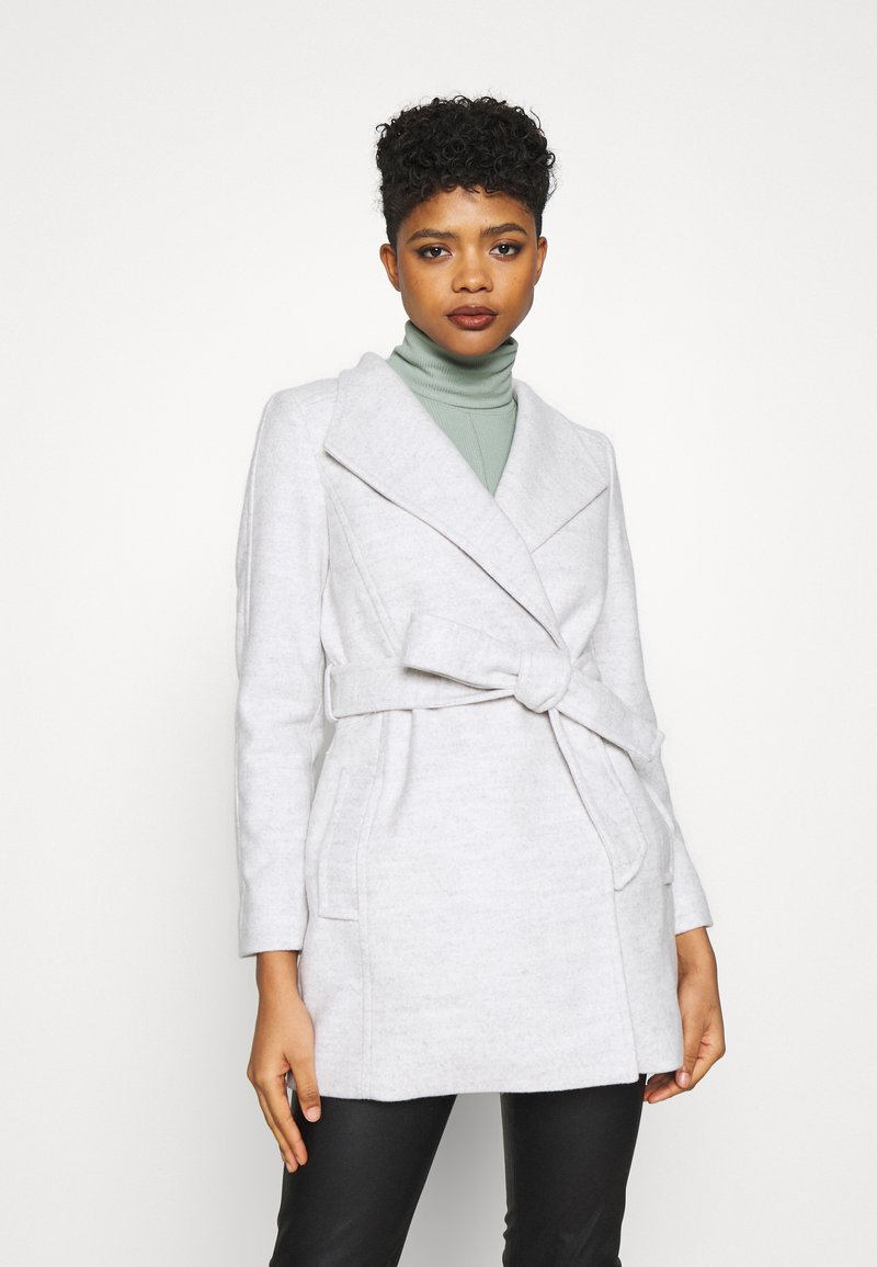 Forever New - VIVIENNE SHORT WRAP - Short coat - grey marle