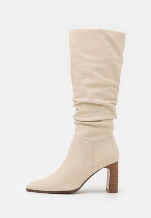 LEATHER - High heeled boots - white