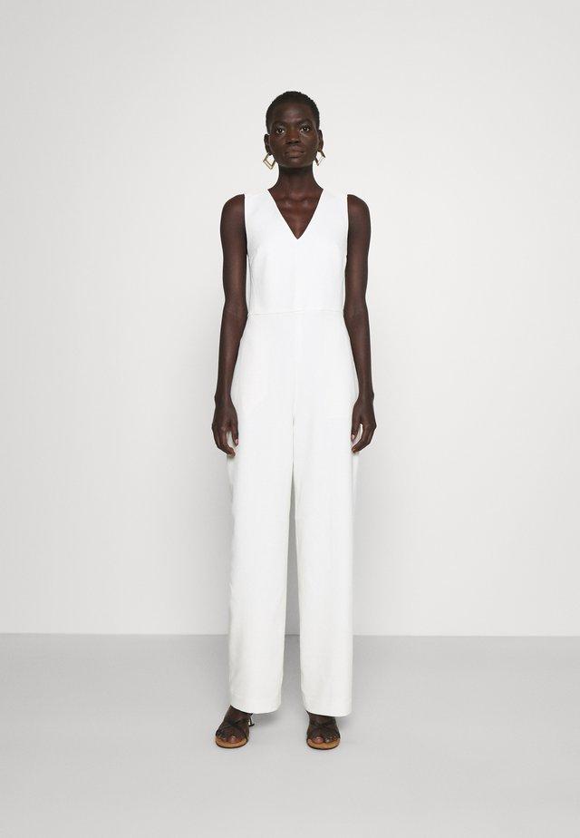 TIE BACK - Tuta jumpsuit - white