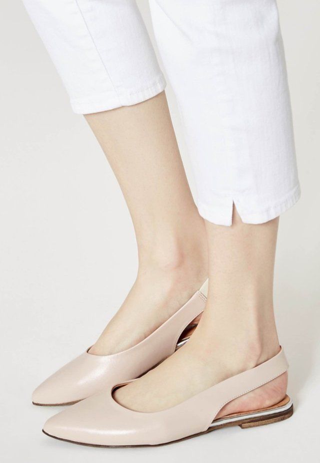 Slingback ballet pumps - light pink
