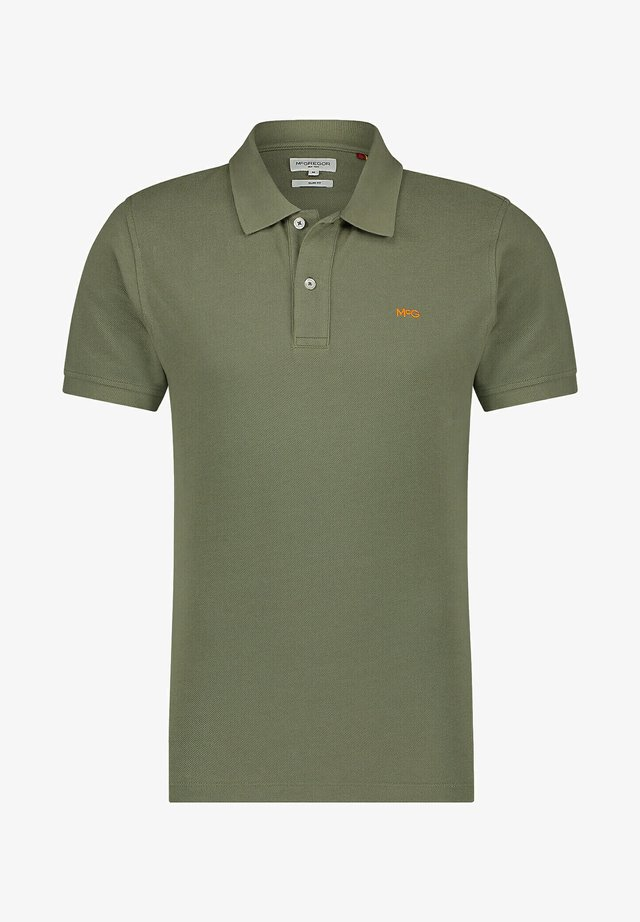 SLIM FIT - Polo shirt - deep lichen green