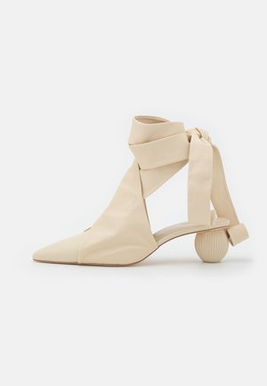 ANNIKA - Lace-up ankle boots - off white