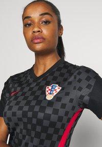 Nike Performance - KROATIEN - National team wear - anthracite/black/university red - 3