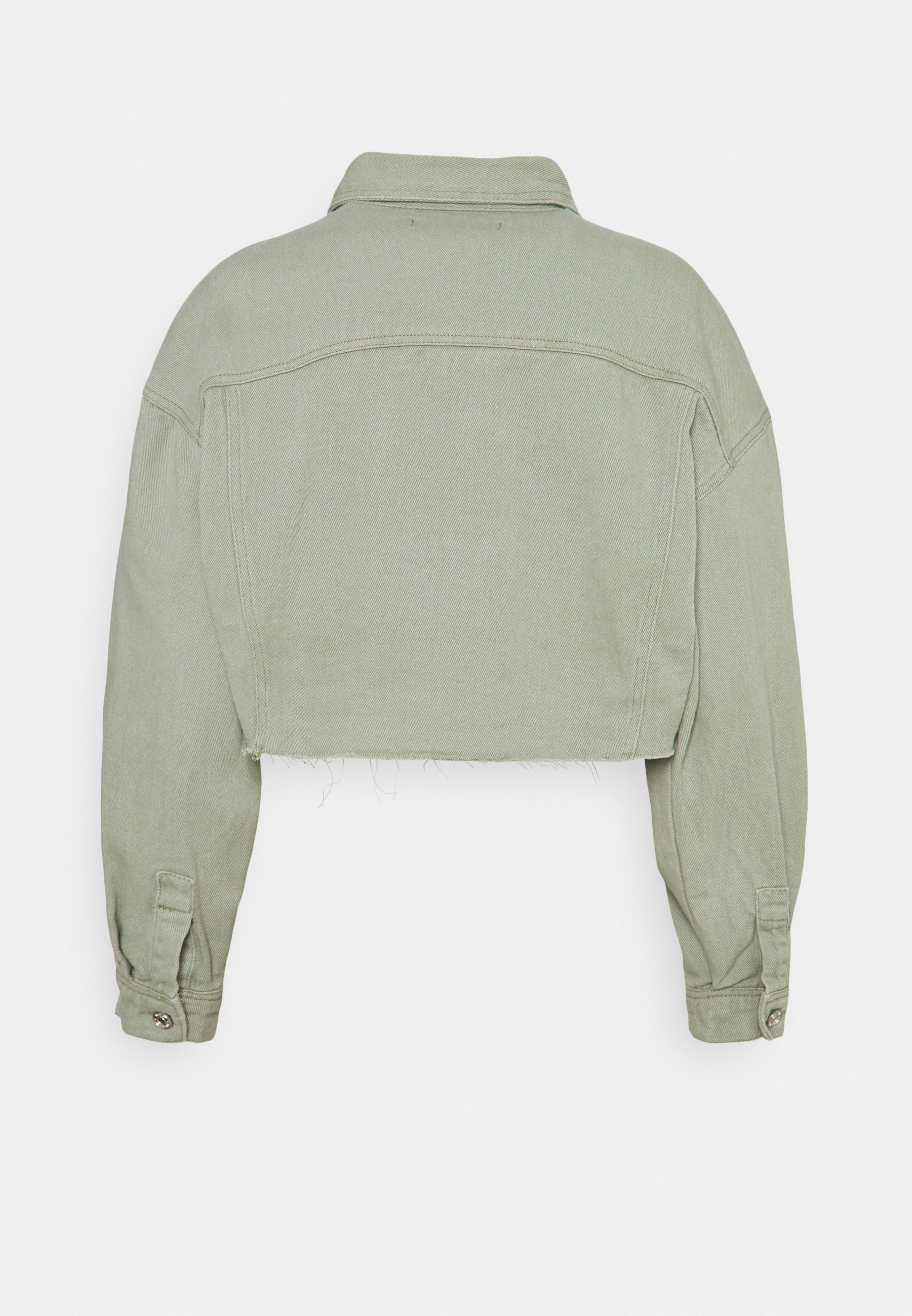 Women CROP RAW HEM JACKET - Denim jacket