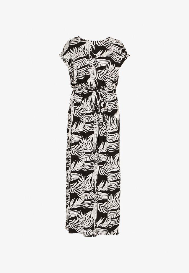 TIE BACKMAXI TROPICAL DRESS - Vestido largo - black