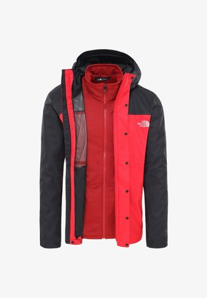 Training jacket - red/black
