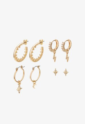 PCSPACE 4 PACK - Earrings - gold-coloured