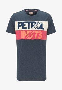 Petrol Industries - Print T-shirt - deep navy - 4