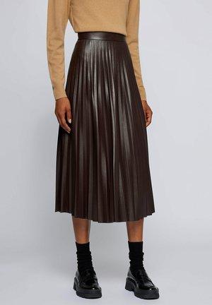 VAPLITA - A-snit nederdel/ A-formede nederdele - dark brown