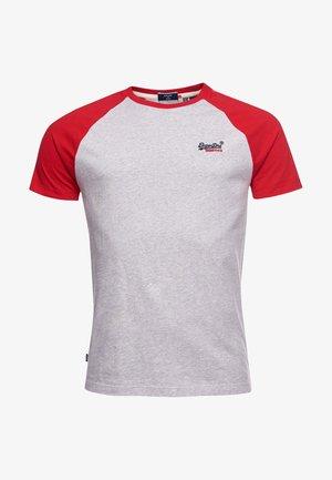 BASEBALL - T-shirt med print - light grey marl