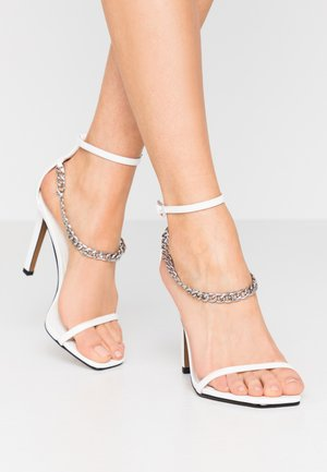 RIVAL CHAIN PART - High heeled sandals - white
