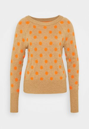 CRAZY DOT NEW COZY - Jumper - medium oatmeal