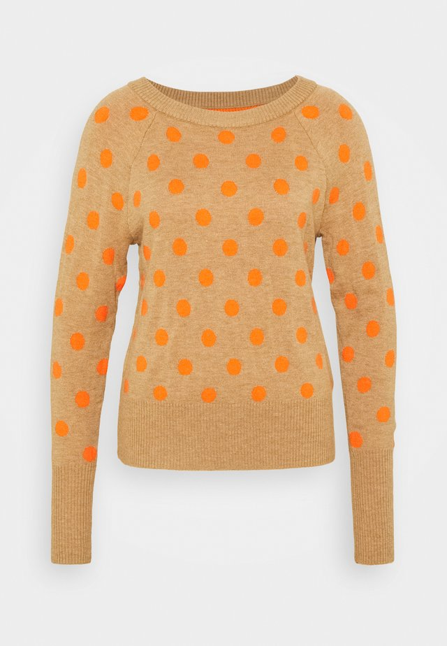 CRAZY DOT NEW COZY - Sweter - medium oatmeal