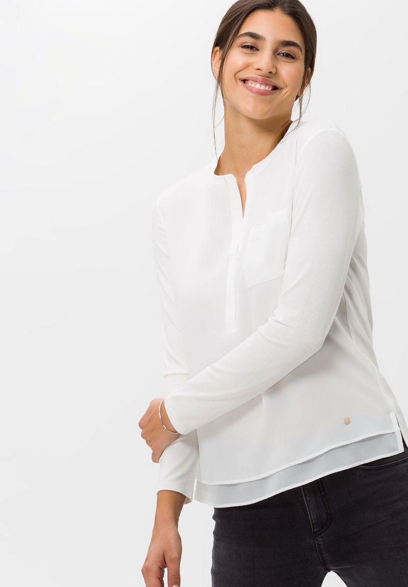 BRAX - STYLE CLARISSA - Long sleeved top - offwhite