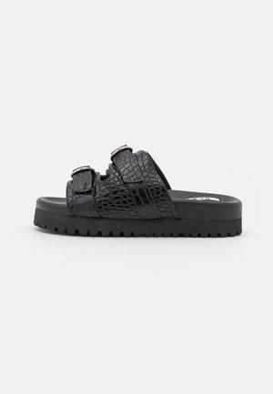 DOUBLE BUCKLE  - Slip-ins - black
