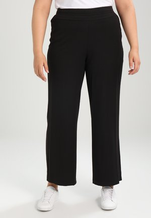 PICASSO WIDELEG - Trousers - black