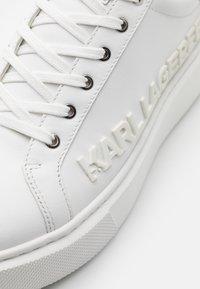 KARL LAGERFELD - MAXI KUP INJEKT LOGO - Sneaker low - white - 5