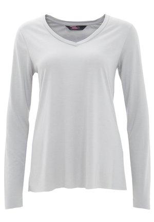 MIT OFFENEN ABSCHLÜ - Long sleeved top - grau