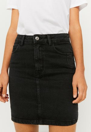 Denim skirt - black denim