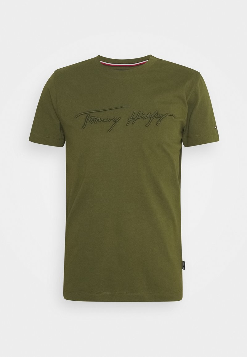 Tommy Hilfiger - SIGNATURE GRAPHIC TEE - T-shirt med print - putting green