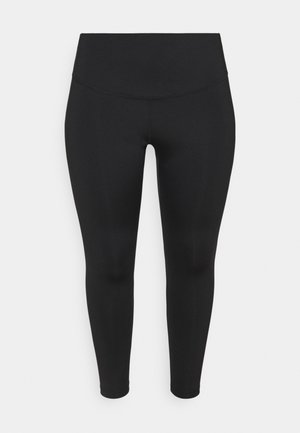 RUN 7/8 PLUS - Leggings - black/silver