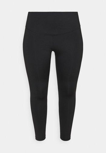RUN 7/8 PLUS - Leggings - black/silver