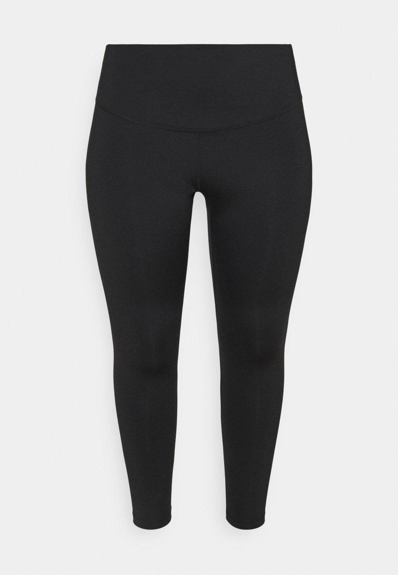 Nike Performance - RUN 7/8 PLUS - Leggings - black/silver